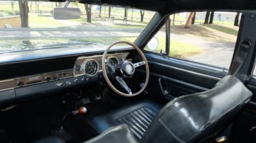 Old style: The original GT Falcon was simple by stylish inside.
