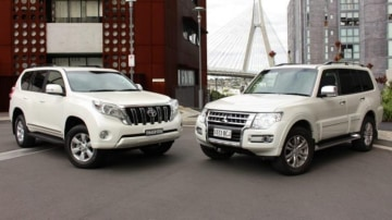 Face off: We compare the Toyota Prado Altitude with the Mitsubishi Pajero Exceed.