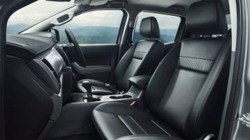 2017 Ford Ranger XLT leather accented interior option.