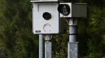 Mercury. News. Cameras. The Roads and Maritime Services speed camera on Memorial Drive at Corrimal on the northbound lane. Monday 3rd December 2012. Photo. Kirk Gilmour. Story. Glen Humphries