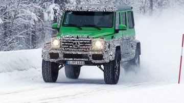 Spy photographers have snapped the new Mercedes-AMG G63 4x4 during testing: Source: Automedia.