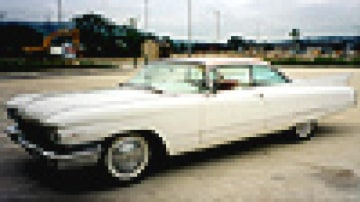 Pink and white Cadillac once owned by Elvis Presley