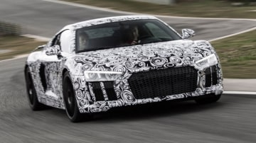 Audi R8 Prototype supercar is powered by a naturally aspirated 5.2-litre V10 engine and can reach 100km/h in just 3.2 seconds.