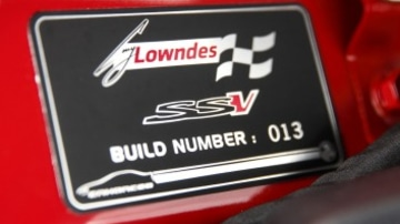 Limited edition: Each Craig Lowndes Commodore has a numbered build plaque