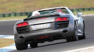 The new R8 5.2 FSI V10 Spyder arrives in Australia (Phillip Island Circuit).