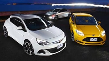 Renault RS265, Opel Astra OPC, Ford Focus ST