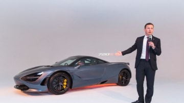 McLaren's Asia Pacific managing director George Biggs poses for a photo at the launch of  the McLaren 720S luxury performance car