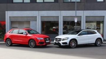 Head-to-head: Audi RSQ3 v Mercedes-Benz GLA45 AMG