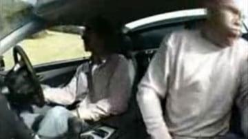 Video: Damon Hill + SL55 AMG = Vomiting Journalist