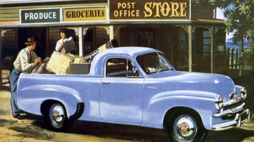 A pioneer of the great southern land: Promotional material for the ground breaking 1953 FJ Holden, still considered one of the company's greatest models.