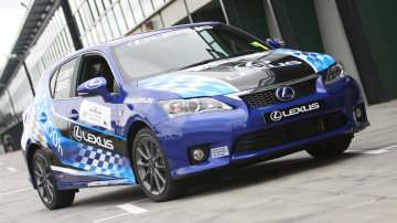Lexus CT 200h F1 Celebrity Challenge Footage Shows Stars In Race Training