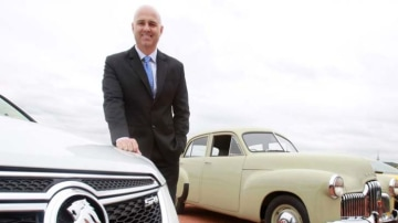 """""""We're going to continue to engineer and design cars in Port Melbourne"""" ... Mike Devereux."""