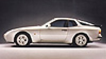 Sweet handler: a front-mounted engine and rear-mounted gearbox give the Porsche 944 all-but-perfect weight distribution.
