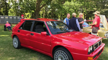 The giant-killing Lancia Delta Integrale at AutoItalia at Old Parliament House in Canberra.