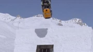 World first: car backflips