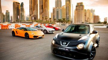 The Nissan Juke-R in Dubai.