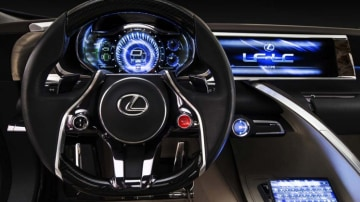 Lexus LF-LC at the 2012 Sydney motor show.