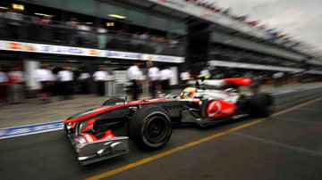 McLaren's Lewis Hamilton.