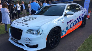 The NSW Police Highway Patrol took delivery of a V8-powered Chrysler 300 SRT.