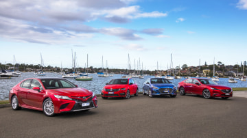 The new Toyota Camry takes on some the best mid-sizers on sale: Mazda6, Skoda Octavia and Hyundai Sonata.