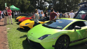 Lamborghinis faced off against Ferrari at AutoItalia at Old Parliament House in Canberra.