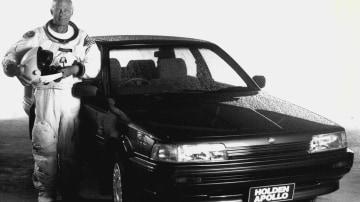 Holden used retired astronaut Buzz Aldrin to promote the original Apollo sedan.