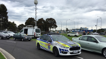Last Ford Falcon XR6 Turbo highway patrol car hands in its stripes