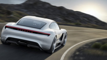 Porsche's Mission E - shown in concept form at the 2015 Frankfurt motor show - is expected to go on sale in 2018.