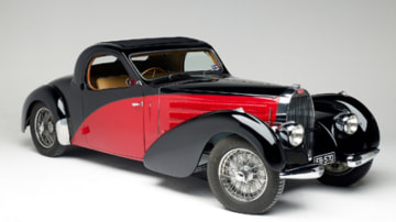 Art and cars collide ... Jean Bugatti's famous Type 57C Atalante.