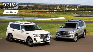 2021 Drive Car of the Year Best Upper Large SUV group photo