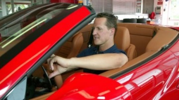 Schumacher Gets Hands Dirty on Ferrari California