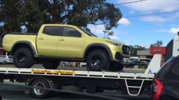 Mercedes' new ute has made a trip to Australia.