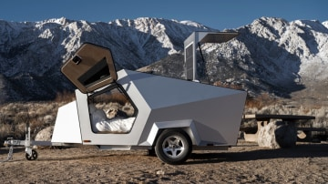 Off-grid camping trailer you can tow with your EV
