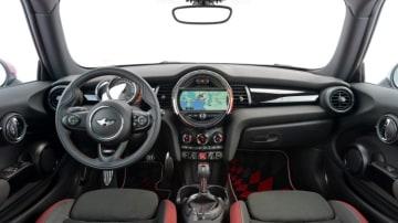 Inside the Mini Cooper S JCW.