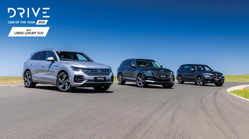Drive Car of the Year Best Large Luxury SUV finalists group photo