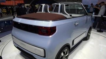 Wuling Hongguang Mini EV Cabrio convertible concept rear view