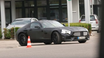 AMG's smaller and more affordable sports car, codenamed C190, has been spotted testing in Germany.