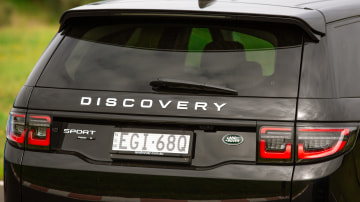 Drive Car of the Year Best Medium Luxury SUV 2021 finalist Land Rover Discovery Sport rear exterior