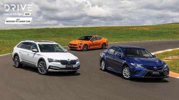 Drive Car of the Year 2021 Best Medium To Large Car group shot