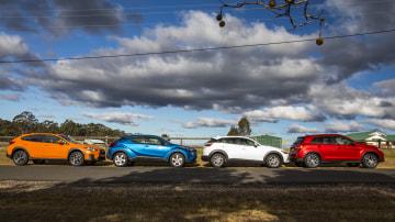 Subaru XV, Toyota C-HR, Mazda CX-3, Mitsubishi ASX