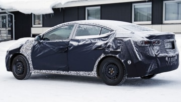 Spy photographers have snapped the new Hyundai Elantra during testing: Source: Automedia.