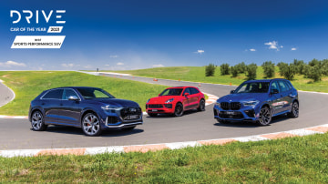 Drive Car of the Year Best Sports Performance SUV finalists group photo