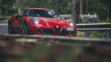 Pint-sized Ferrari: The Alfa Romeo 4C offers up supercar-style thrills for a fraction of the cost.
