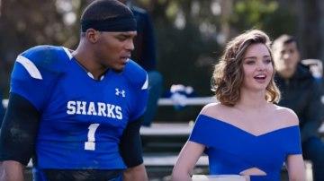 NFL quarterback Cam Newton stars with Miranda Kerr in Buick's Super Bowl commercial.