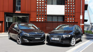 Euro class: Peugeot 308 Touring and Audi A3 Sportback.