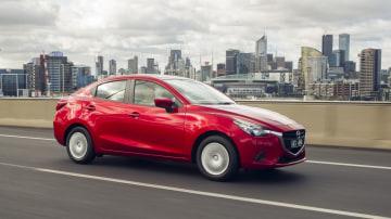 The 2015 Mazda2 Neo sedan.