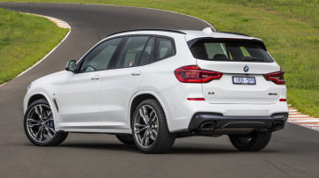 Drive Car of the Year Best Medium Luxury SUV 2021 finalist BMW X3 rear exterior