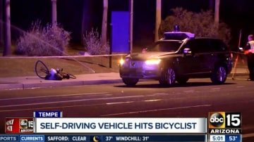 Arizona police are investigating a fatal collision between a self-driving Uber and a pedestrian.
