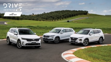 Drive Car of the Year 2021 Best Large SUV finalists group photo