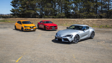 Drive 2020 Best Sports Car Under $100k finalists group photo